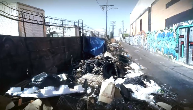 [LA] City Cleaned Mountain of Trash, But Health Hazard Remains