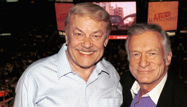 LA Lakers Owner Jerry Buss, Then and Now