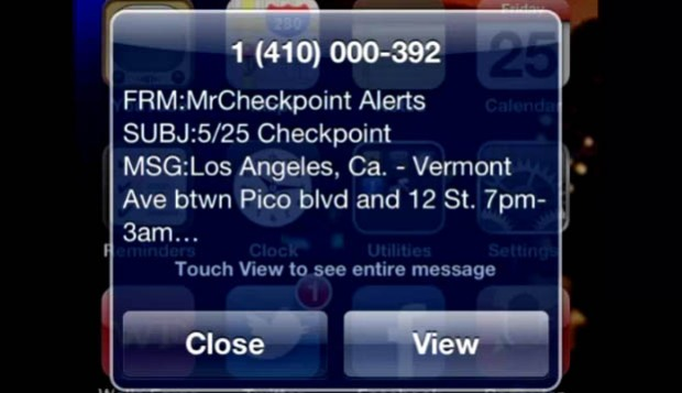 "[LA] ""Mr. Checkpoint"": DUI Check Alerts May Curb Drunk Driving"