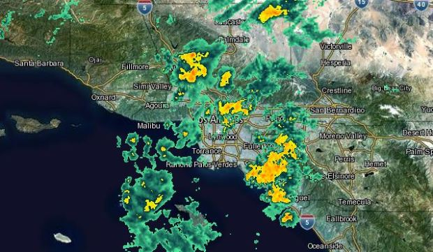 [LA] AM Forecast: Rain Arrives