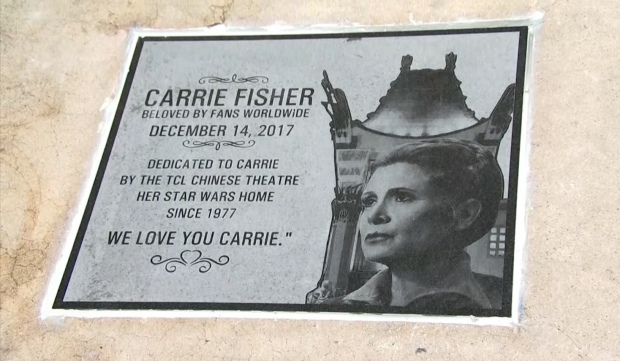 'Beloved by Fans Worldwide': Carrie Fisher Memorialized at Chinese Theatre