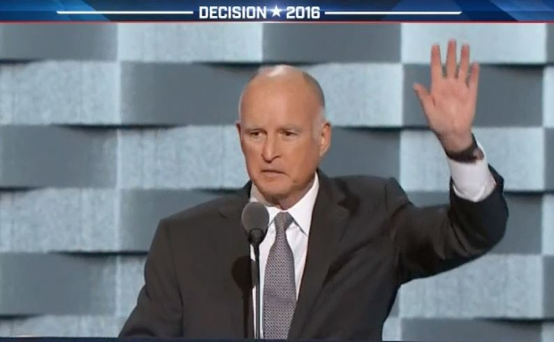 [LA] Governor Jerry Brown Criticizes Donald Trump in DNC Speech