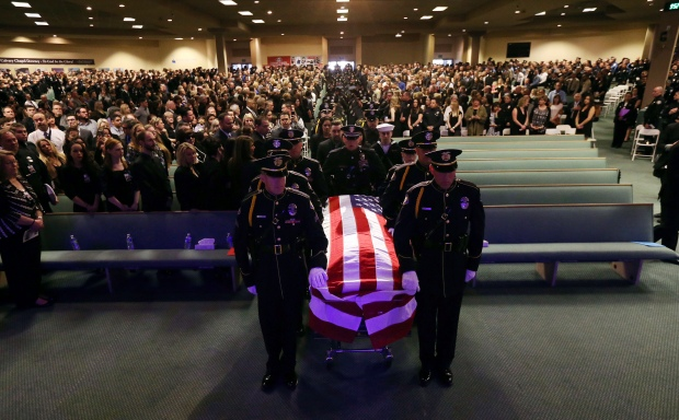 [LA Gallery] Fallen Whittier Officer Keith Boyer Honored at Funeral Service, Procession