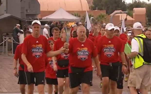 [LA] Special Olympics Torch on Final Leg of Relay
