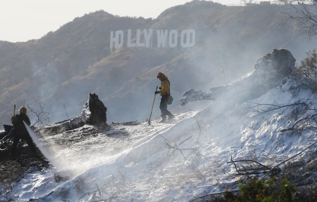 The Griffith Park Firefight in Photos