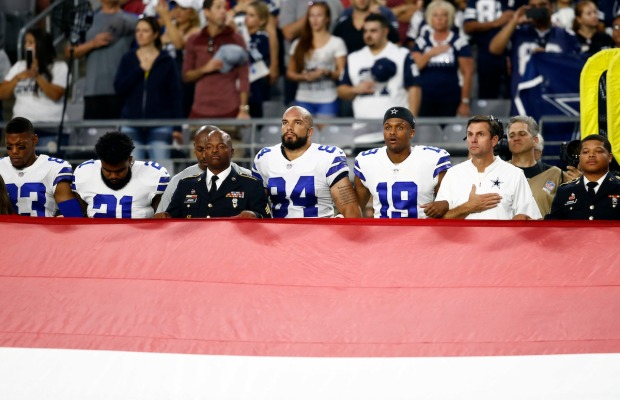 Jerry Jones, Dallas Cowboys Players Take Knee Before Monday Night Football