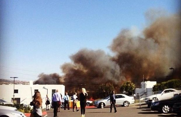 Fire Breaks Out in Newport Beach
