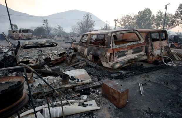 Images From the Cajon Pass Wildfire