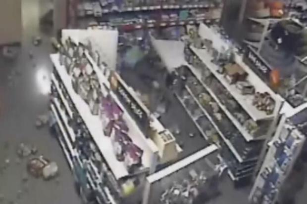 [BAY] Surveillance Video Captures South Napa Earthquake