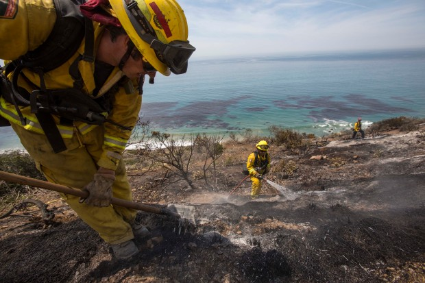 Dramatic Photos: Camarillo Springs Wildfire