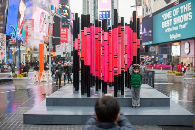 [NATL] 'We Were Strangers Once Too' Art Installation in Times Square