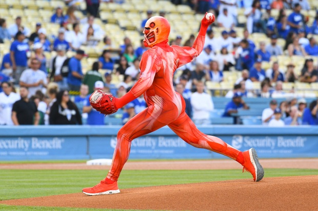 [la gallery UPDATED 10/16] Photos: Adorable, Emotional and Sometimes Awkward Ceremonial First Pitches at Dodger Stadium