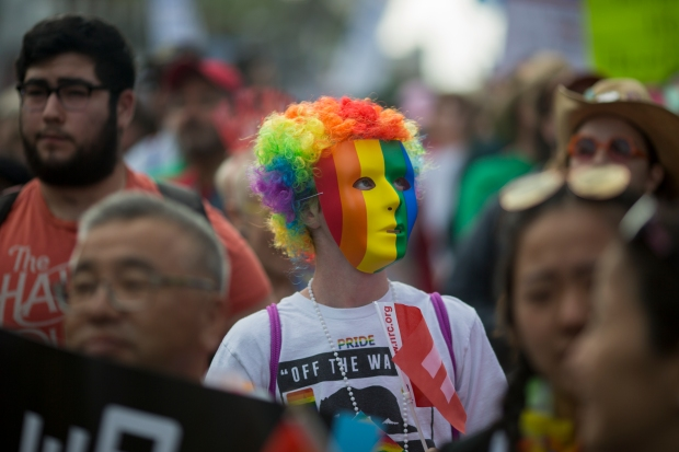 [la gallery] Photos From Sunday's #ResistMarch From Hollywood to West Hollywood