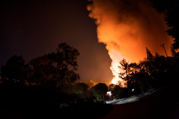 Viewer Images: Tea Fire Burns in Montecito Area
