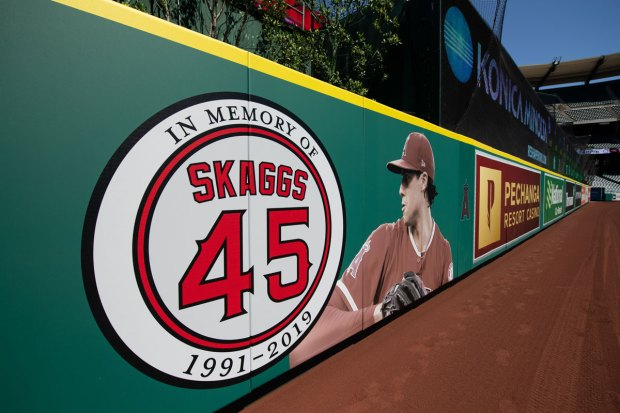 Photos: How Baseball and Its Fans Are Remembering Angels Pitcher Tyler Skaggs