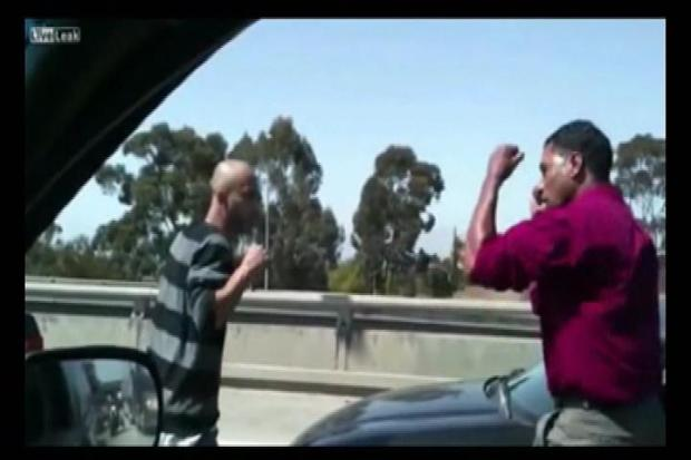 [LA] Man Says He Did His Part By Catching Freeway Fight on Video