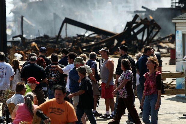 NEW IMAGES: Massive Boardwalk Fire