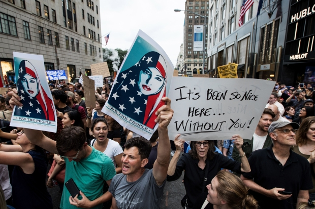 Dramatic Images: Protesters March to Trump Tower