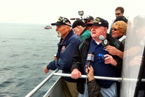 [LA] Veterans Watch as USS Iowa Nears San Pedro
