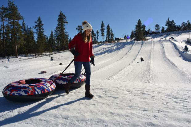 Photos: Hold on Tight! Snow-Tubing Fun in Big Bear for Spring Breakers