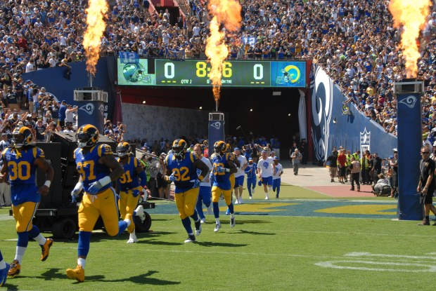 Photos: The Images You Didn't See From The Field of the Rams' Triumphant Return to Los Angles