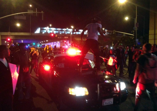 Protests Continue in LA Over Ferguson Decision: Day 2