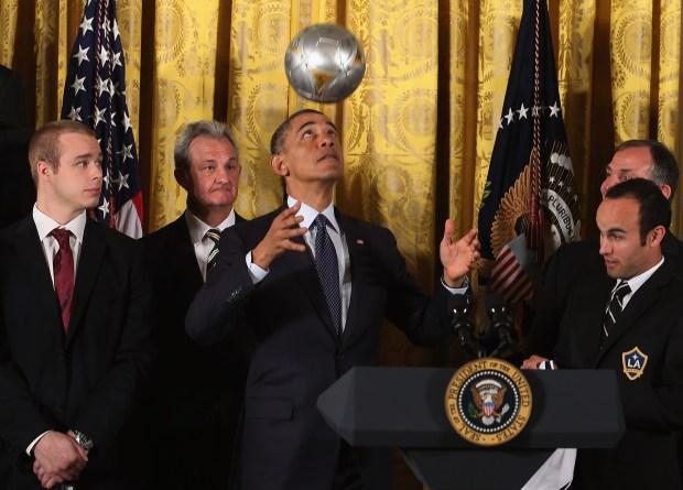 LA's Champions Kings, Galaxy Visit White House