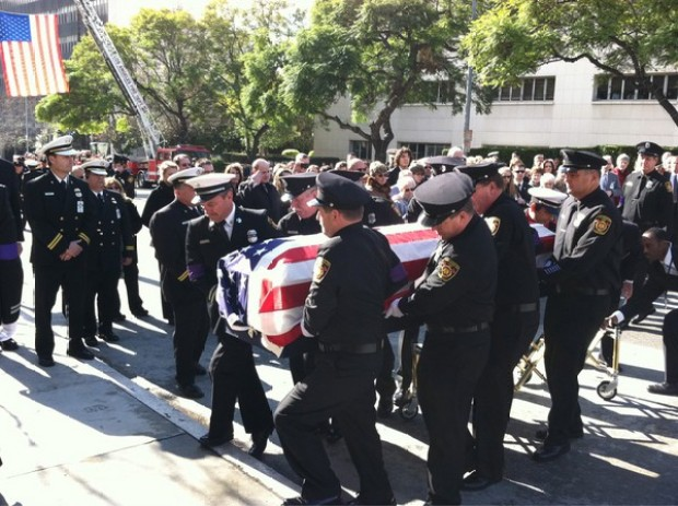 Images: Services for Fallen Firefighter