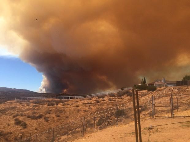 [LA UGC PHOTOS] Blue Cut Wildfire Burns in Cajon Pass