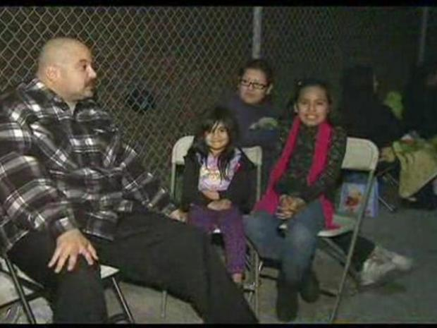[LA] Families Camp Out Waiting for the Miracle on 1st Street