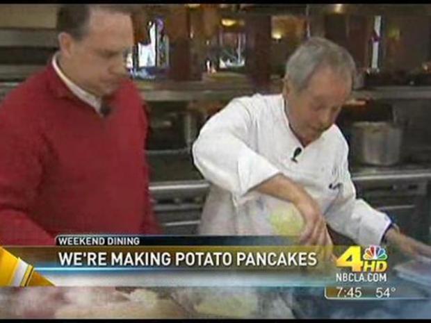 [LA] Weekend Dining: Potato Pancakes With Smoked Sturgeon or Smoked Salmon