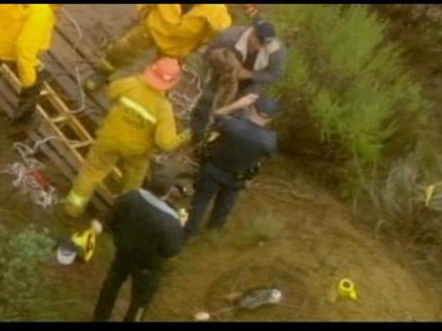 [LA] Dog Rescued from Well