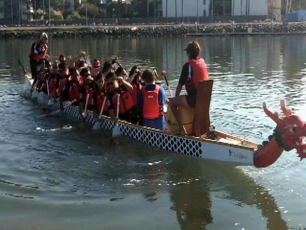 [LA] Blind Team Preps for Long Beach Dragon Boat Race