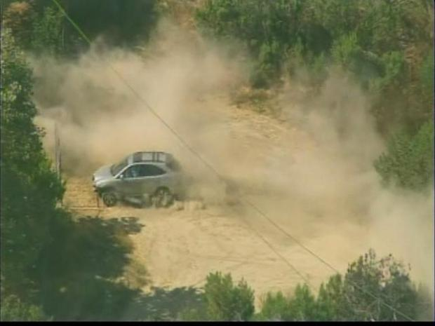 On- and Off-Road Pursuit Ends in Baldwin Hills