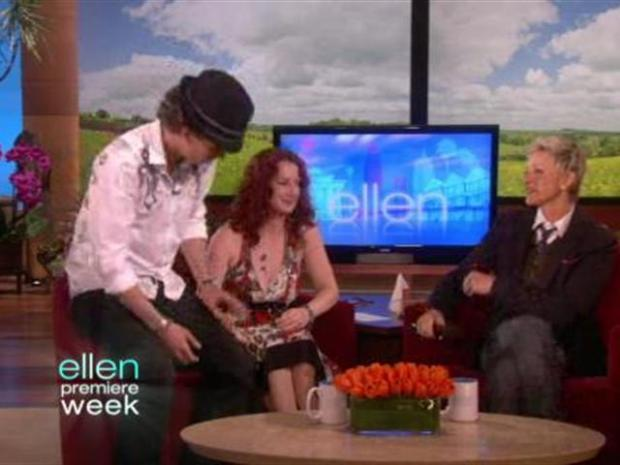 "[LA] Raw Video: ""America's Got Talent"" Winner Proposes on ""Ellen"" Show"