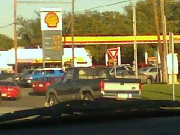 Viewer Photos: Cheaper Gas, Longer Lines