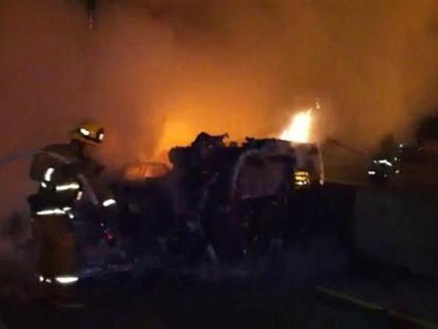 [LA] Fire Crews Douse Big Rig
