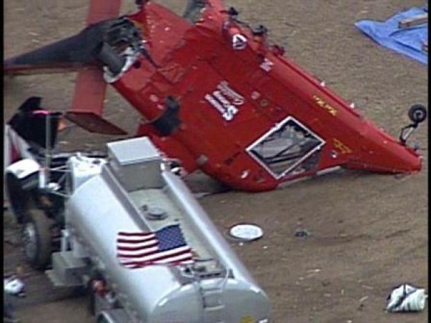 [LA] Wind Credited in Chopper Accident (RAW)