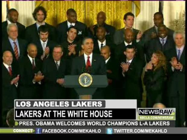 [LA] Los Angeles Lakers Meet Mr. President