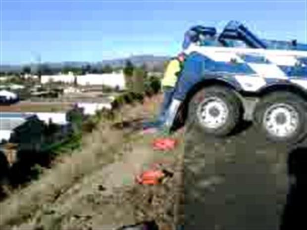 [LA] Heavy Lifting: Tow Trucks to Remove Big Rig