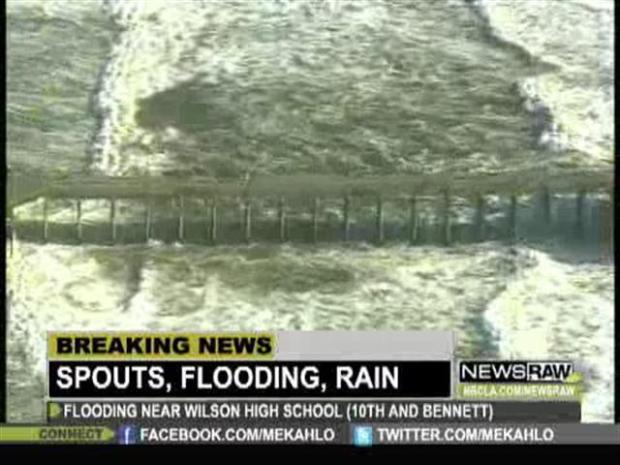 [LA] Winter Storm: Water Spout touches down near Huntington Beach
