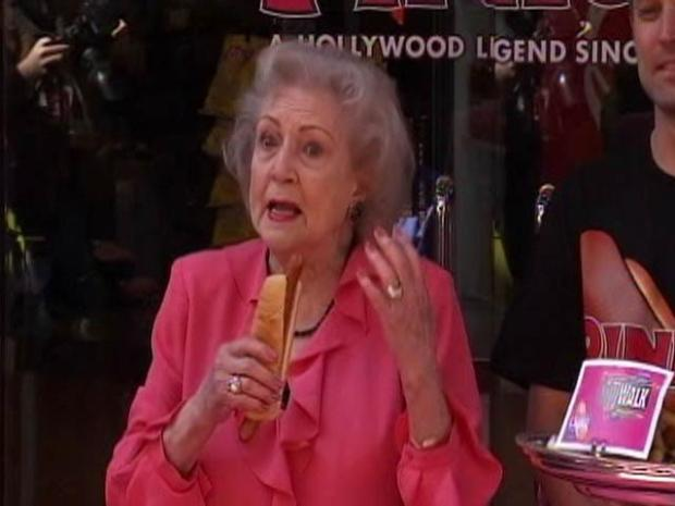 "[LA] Raw Video: Betty White Enjoys a ""Naked"" Dog"