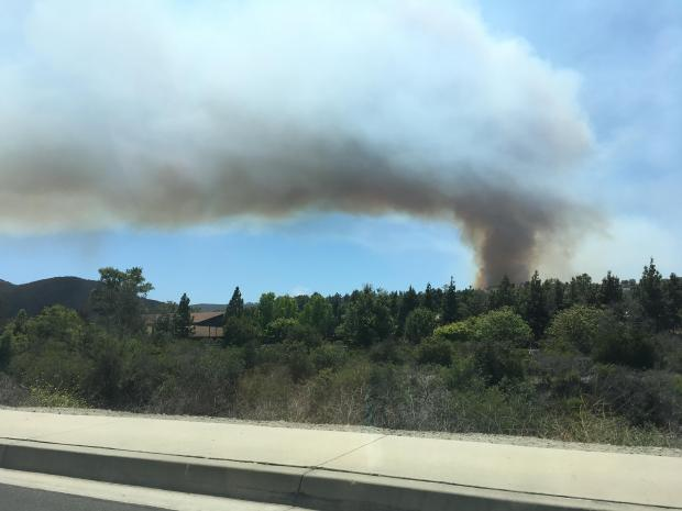 PHOTOS: Spring Wildfire Scorches Brush in Southern Orange County