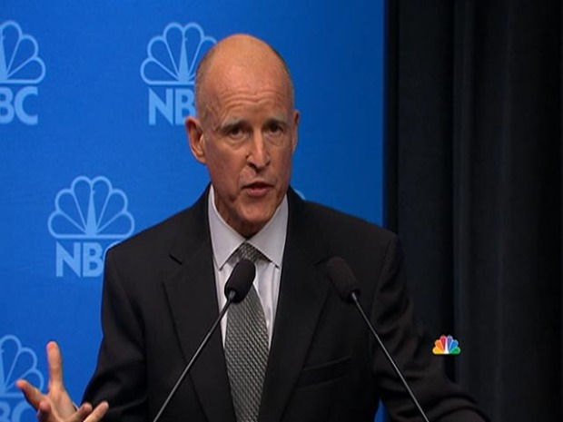 "[LA] Jerry Brown Grilled on ""Whore"" Comments"