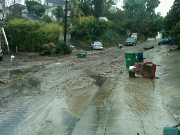 Images: Mud Covers Downtown Laguna Beach