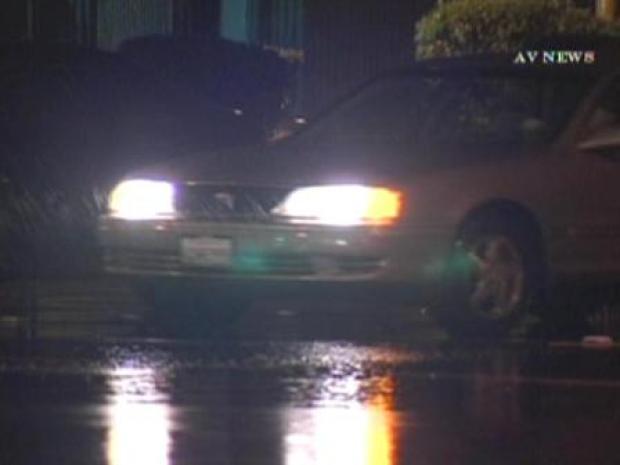 [LA] Heavy Rain Falls In Glendora Overnight (RAW)