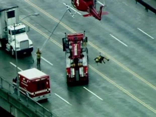 [LA] Raw Aerial Video: Dramatic Dog Rescue