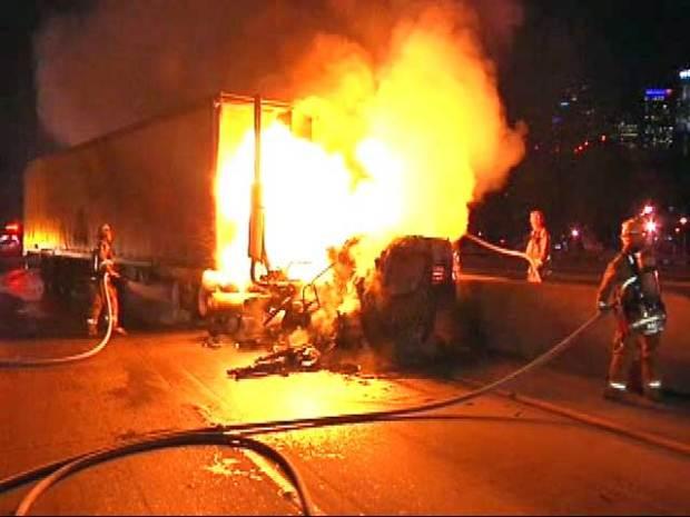 [LA] Truck Driver Says He Was Cut Off