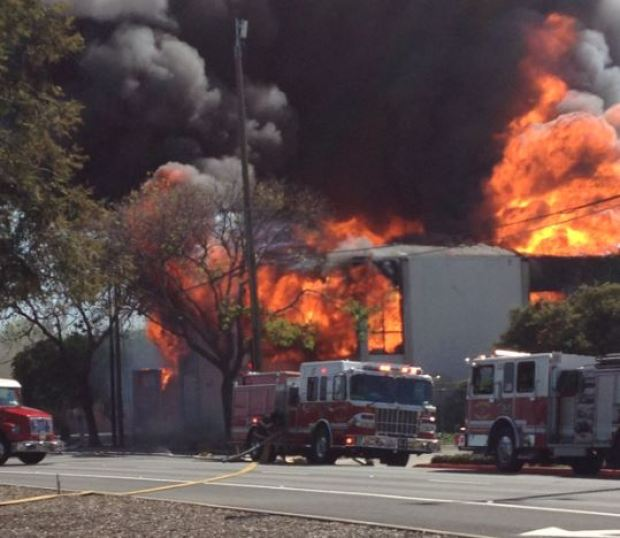 5-Alarm Fire Burning at Old KNTV Studio in Downtown San Jose