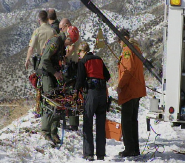 Angeles Forest Rescue: Helicopter Airlift Images